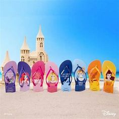 Disney Princess Havaianas Flip Flops Will Have you Flipping Your Fins Disney Home, Disney Art, Havianas Flip Flops, Best Flip Flops, Flip Flop Brands, New Disney Princesses, Disney Outfits, Disney Fashion, Products