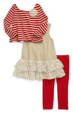 Pippa & Julie Tee, Dress & Leggings #Toddler Girls available at #Nordstrom #falloutfit must have for my little girl