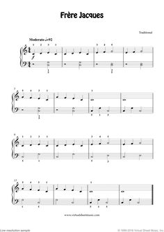 Free Frere Jacques (Are you sleeping?) sheet music for piano solo Free Sheet Music, Piano Sheet Music, Nursery Rhymes Lyrics, Key Change, Piano Player, Easy Piano, Piano Lessons, Sleep, Musica