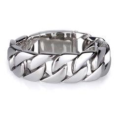 Shiny Glossy Stainless Steel Mens Bracelets Rock Punk 20MM Wide Big Chain Bracelets Bangles Jewelry Accessories Bracelet Men
