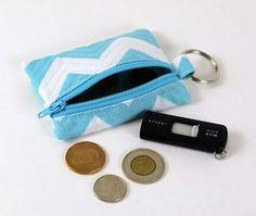 Porta-moedas e pequenos objetos em tecido quiltado