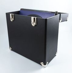 """Look no further than this beautiful black GPO Vinyl Case to store and protect all of your favourite LPs (albums) or 12"""" Singles at home and on the go."""