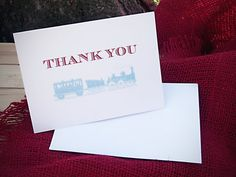 Choo Choo Train Party Thank You Cards by paperandlaceaustin, $1.55