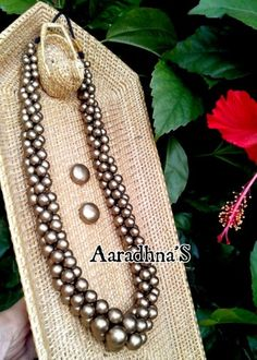 Terracotta Clusterbeads Mala Thread Jewellery, Antique Jewellery, Fashion Jewellery, Handmade Jewellery, Jewellery Making, Silver Jewellery, Funky Jewelry, Diy Jewelry, Jewlery