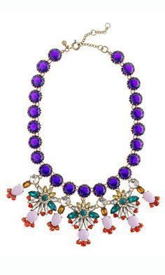 Wonderful necklace...Colorful! #retro #rhinestone #necklace #for #parties #ahai @Ahai