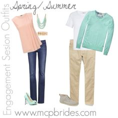 Spring/Summer Engagement Session Outfit Ideas Mint mcpbrides.com  | repinned by http://BorisyukPhotography.com