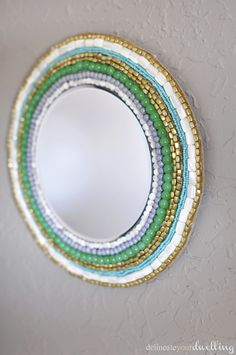 DIY: beaded wall mirror