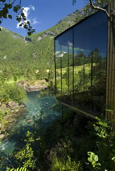 Stunning design hotel reflecting the just as stunning surroundings... Wow! Juvet Landscape Hotel1, via Flickr #MyEscapeCompetition