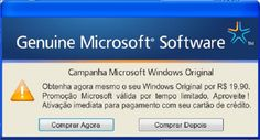Vírus brasileiro sequestra PC ao tentar 'vender' falsa licença do Windows