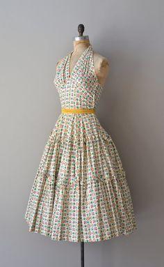 Pocket of Sunshine dress / vintage 1950s dress / by DearGolden