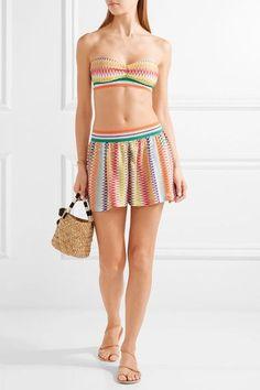 Missoni - Mare Rhombus Metallic Crochet-knit Shorts - Orange - IT38