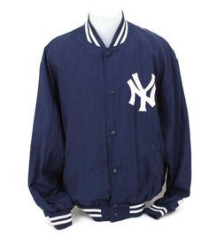 NY Yankees STARTER Official MLB Jacket Diamond Collection Streetwear Size Large #Starter #Baseball