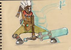 --------Ekko's echoes  !---------  This is a fan-art of the champion Ekko , a character in the video game League of Legends , which is my favorite game on line for the moment , my geek side expresses it self in those days ^^   -------Les échos d'Ekko ! ---------  Bon , voila une fan art de Ekko , un personnage du jeu league of legends , mon jeu en réseau préféré du moment , mon petit coté geek s'exprime en ce moment ^^