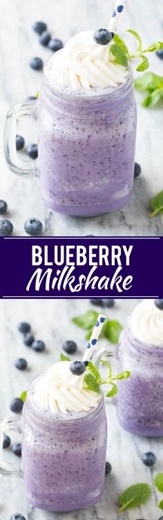This recipe for a blueberry milkshake is a cool treat that's on the lighter side - this milkshake has less calories than the original version! Drinks Alcohol Recipes, Non Alcoholic Drinks, Yummy Drinks, Beverages, Cocktails, Fancy Drinks, Milk Shakes, Milkshake Recipes, Kitchen