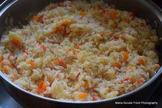 Paella vegetariana, gata in 30 de minute. Valencia in bucataria mea Thing 1, Grains, Rice, Paella, Valencia, Parenting, Food, Eten, Childcare
