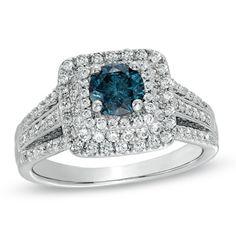 Unique Blue Diamond Engagement Rings: Women's Favorite