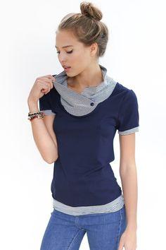 Tops - Shirt Kopenhagen in dunkelblau - ein Designerstück von Shoko bei DaWanda