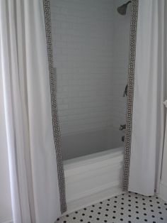 ceiling height shower curtain