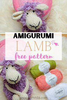 Learn how to crochet this cute sheep! The amigurumi lamb is made with the loop stitches and is fun and easy to make.   Amigurumi sheep. Amigurumi sheep free pattern. Amigurumi sheep pattern. Amigurumi sheep crochet. Amigurumi sheep free crochet lamb. Amigurumi lamb. #crochetsheep #amigurmilamb #amigurmisheep