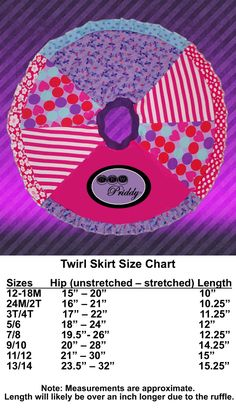 Twirl skirt measurements