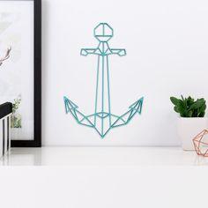 Anker Meer als 3D Origami Figur aus Holz in vielen verschiedenen Farben erhältlich.