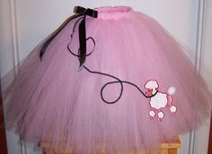 50's poodle skirt tutu.. wear with leggings and cardigan