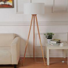 Materiałowa lampa stojąca Charlia z trójnogiem 9620799