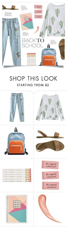 """Go Back-to-School Shopping!"" by mahafromkailash ❤ liked on Polyvore featuring BackToSchool, Cactus, embroidered, rippeddenim and summer2017"
