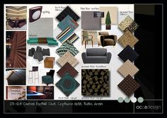 Hotels and leisure Copthorne Hotel Chelsea (Foyer Sample Board) Interior Design Classes, Interior Design Boards, Interior Design Inspiration, Interior Decorating, Discount Interior Doors, Mood Board Interior, Interior Design Presentation, Presentation Boards, Material Board