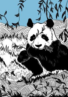 Panda Art Print by Amanda Breach | Society6