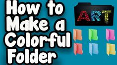 How to make a  colorful folder in Bangla