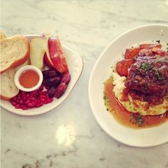"""Husband and wife team Dean and Maya Jankelowitz of Jack's Wife Freda proudly serve their trendy version of """"Jewish grandmother cuisine"""" at their Soho restaurant. Check out this short ribs #recipe for #RoshHashanah"""