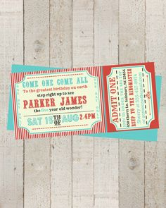 Hey, I found this really awesome Etsy listing at https://www.etsy.com/listing/188690067/circus-invitation-vintage-circus