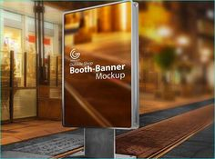 Outdoor Booth Banner Mockup 14