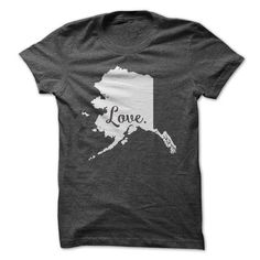Love Alaska T Shirts, Hoodies. Check price ==► https://www.sunfrog.com/States/Love-Alaska-62494506-Guys.html?41382
