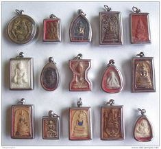 These are Thai phras, holy pieces made in many cases with the ashes of Buddhist monks. I think they're so lovely ~