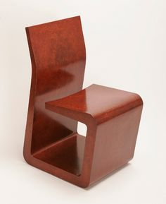 B+ CHAIR  Materials: Wood veneer over an engineered core Dimensions: 16W x 20D x 32H  Options: Standard or exotic woods / Finish / Hidden wheels