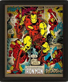 Plakat Marvel Comics the invincible Iron Man Retro Marvel Comics, Marvel Art, Marvel Heroes, Marvel Avengers, Comic Book Characters, Comic Books Art, Comic Art, Iron Man, Marvel Girls