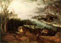 Pieter Bruegel the Elder Landscape with the Parable of the Sower (1557) oil on panel