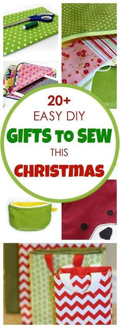 Easy Diy Christmas Gifts To Sew This Christmas! is part of Xmas Sewing crafts - Make diy Christmas gifts using these easy sewing patterns and beginner friendly tutorials Sew your own perfect diy Christmas gifts for family and friends! Easy Sewing Patterns, Easy Sewing Projects, Sewing Projects For Beginners, Sewing Tutorials, Sewing Crafts, Sewing Tips, Pdf Patterns, Sewing Hacks, Free Pattern