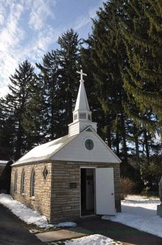 """Smallest Church in the 48 States - This is located near Silver Lake, West Virginia. It is designated as the smallest church in the """"lower 48 states."""" It was originally built for a family, and is still in occasional use. This is near Blackwater Falls State Park."""