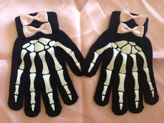 esqueleto guantes
