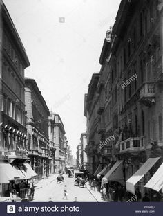 Via del Corso (fine Once Upon A Time, Old Photos, Rome, Street View, Memories, Antique, History, Pictures, Fotografia