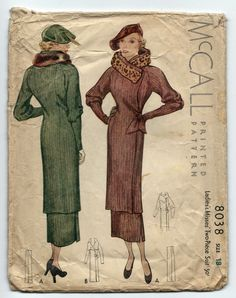 McCall 8038 c.1934 | Misses' Two-Piece Suit