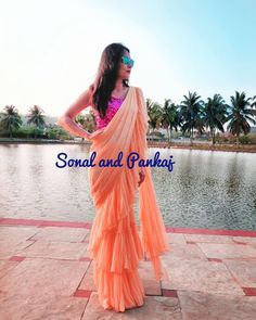 Saree Wearing Styles, Saree Styles, Dress Styles, Indian Bridal Outfits, Stylish Sarees, Saree Collection, Color Combos, Ready To Wear, Crushes