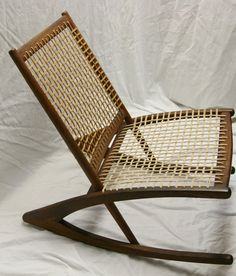 mid-century modern danish rocking chair