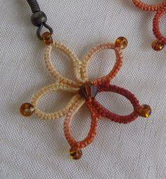 Blacks lace earrings handmade earrings with glasses beads. Use bead to hang from earring loop.