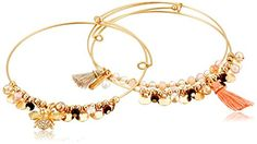 Lonna  Lilly Sunshine Ahead Worn GoldMulti Trio Bracelet >>> Check this awesome product by going to the link at the image.