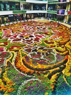 Tapete de flores Medellin Colombia, end July, Aug Topiary Garden, Garden Art, Garden Design, What A Beautiful World, Beautiful Places, Miracle Garden, Gardens Of The World, Grass Flower, Formal Gardens