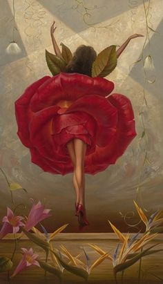 Vladimir Kush flamenco dancer oil painting for sale; Select your favorite Vladimir Kush flamenco dancer painting on canvas or frame at discount price. Vladimir Kush, Fantasy Kunst, Fantasy Art, Art Beat, Flamenco Dancers, Surrealism Painting, Artist Painting, Art Et Illustration, Surreal Art